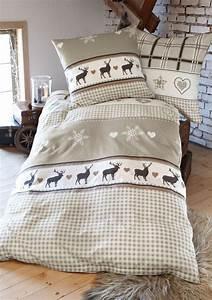 Winter Jersey Bettwäsche : deer snowflakes sheets wohntraum collection heine ~ Watch28wear.com Haus und Dekorationen