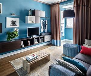 15, Awesome, Living, Room, Designs, Defined, By, Painted, Walls