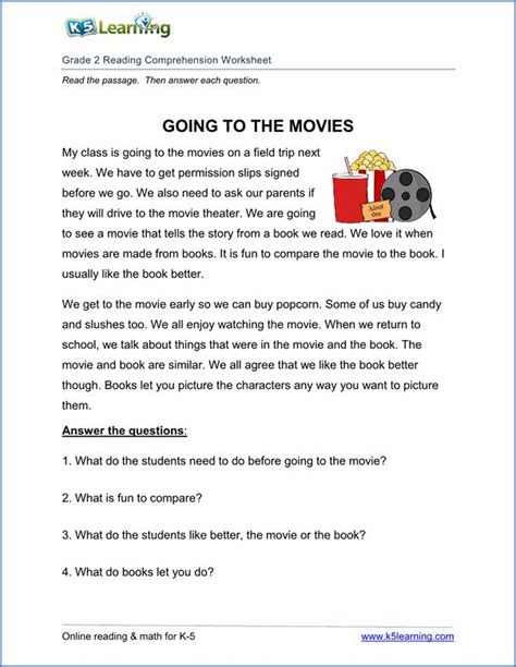 printable reading comprehension worksheets inc exercises