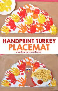 handprint turkey placemat craft for i arts n crafts