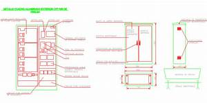 Bloques AutoCAD Gratis de detalle de cuadro de alumbrado exterior