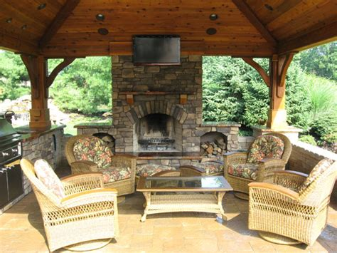 outdoor kitchen fireplace ideas b t klein s landscaping hardscapes outdoor kitchens