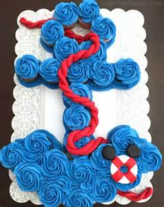 Nautical Baby Shower Cupcakes how to make an anchor cupcake cake crafty morning