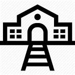 Station Icon Train Depot Railway Icons Outline