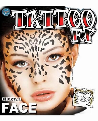 Face Cheetah Tattoo