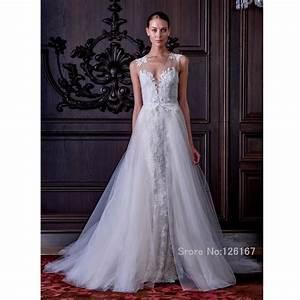 detachable train wedding dress 2016 lace wedding gowns With wedding dresses with trains that detach