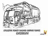 Coloring Garbage Truck Trucks Construction Duty Grimy Severe Yescoloring sketch template