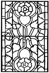 Stained Coloring Glass Pages Adults sketch template