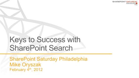 keys  sharepoint search sps philly