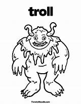 Billy Goats Gruff Coloring Three Pages Troll Ugly Goat Printable Template Colouring Templates Getcolorings Popular Pi sketch template