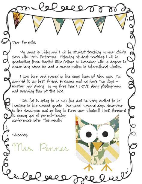 meet  teacher letter classroom ideas