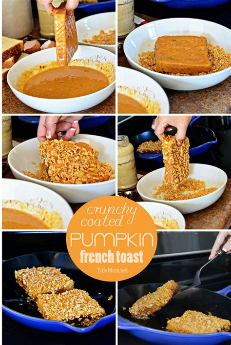 how do you make toast cereal coated pumpkin french toast