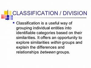 classification and division examples