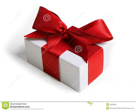 present with ribbon and bow stock photos image 20245653