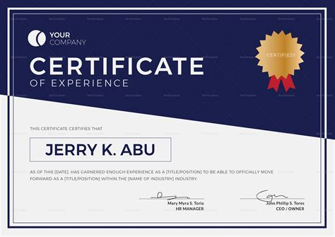 experience letter format chef fresh work certificate