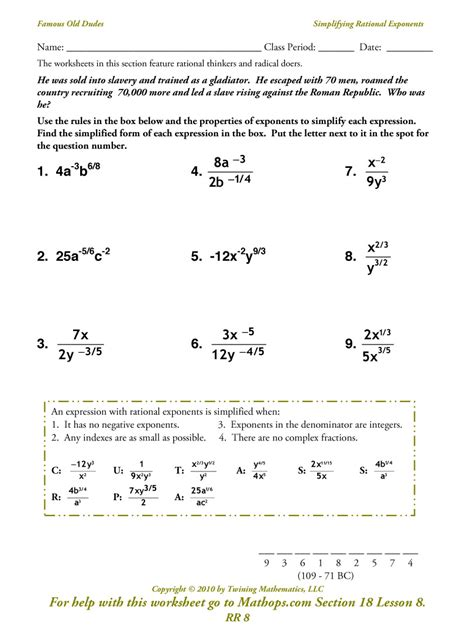 Rr 8 Simplifying Rational Exponents Mathops
