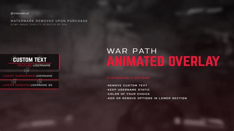 war path animated overlay streamplay graphics