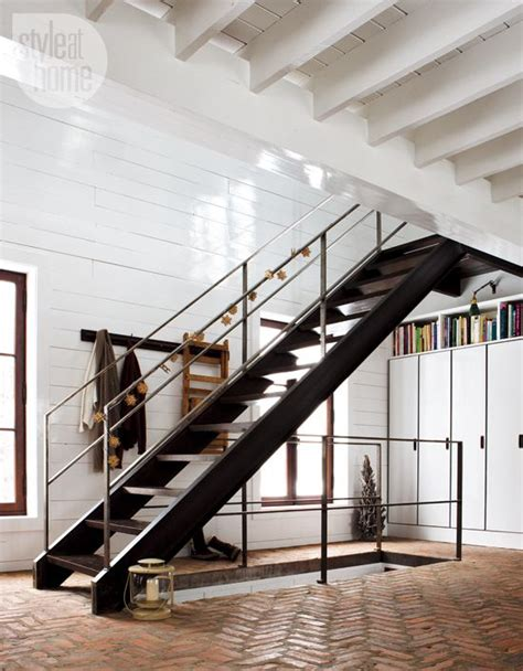 Foldable Stairs Industrial Designer by Interiors Simply Lovely Industrial Stairs Brick