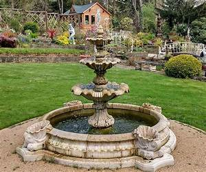 3, Tiered, Windsor, Fountain, With, Small, Neapolitan, Pool, -, Optional, Shells