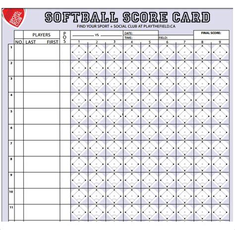 sample softball score sheet templates  google