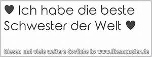 Beste Schwester Der Welt : ich habe die beste schwester der welt tolle spr che und zitate auf ~ Frokenaadalensverden.com Haus und Dekorationen