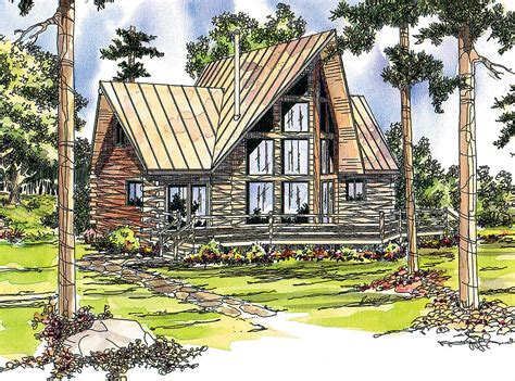 A Frame Log Cabin Floor Plans by Log Cabin With Two Wings 72320da Architectural Designs