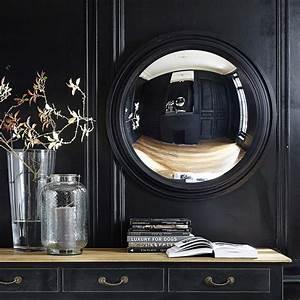 Miroir Fenetre Maison Du Monde : miroir convexe en bois noir d 90 cm vendome maisons du monde ~ Teatrodelosmanantiales.com Idées de Décoration