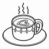 Coffee Coloring Tasse Cup Coloriage Cafe Ausmalen Zum Livre Vector Kaffee Ausmalbilder Enfants Breakfast Biscuits Children sketch template