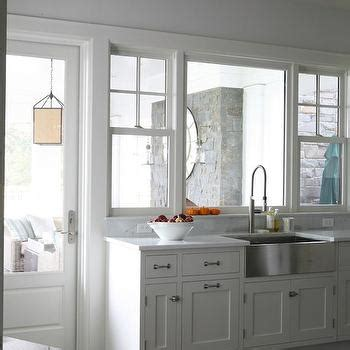 stainless steel apron sink white cabinets stainless steel apron sink cottage kitchen benjamin