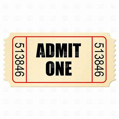 Ticket Clip Stub Clipart Tickets Vector Theatre