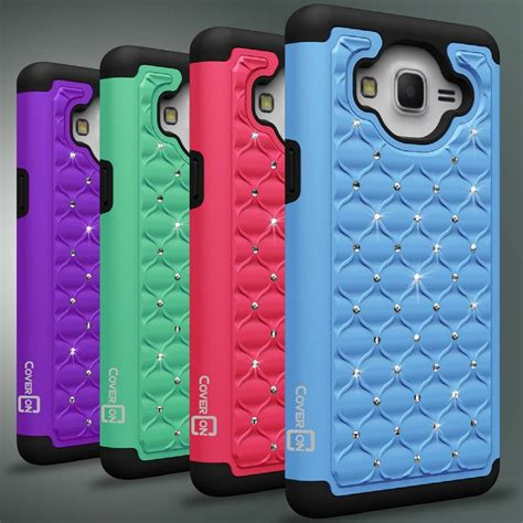 cute diamond bling protective hybrid phone cover case