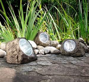 Garten Licht Solar : led 3er set solar gartenstrahler selbstaufladend ~ Whattoseeinmadrid.com Haus und Dekorationen