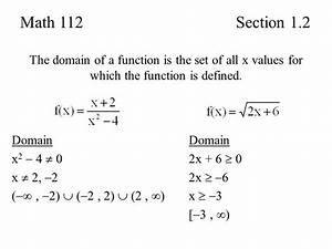 Section 1.2 Basics of Functions - ppt video online download