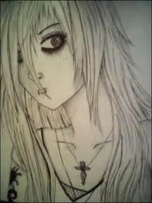 Anime Emo Girl Drawings Pencil