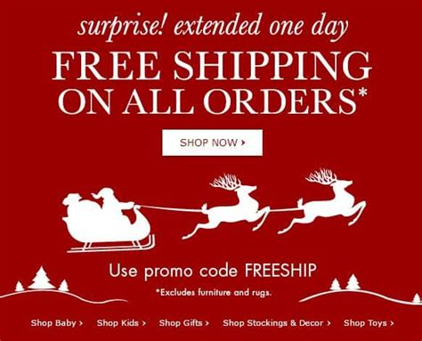 Get Free Shipping Today Only