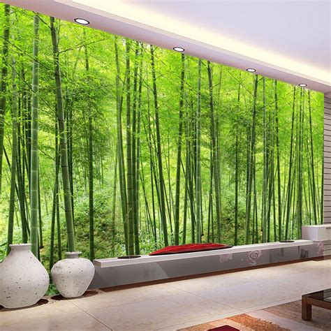 nature landscape green bamboo forest photo mural