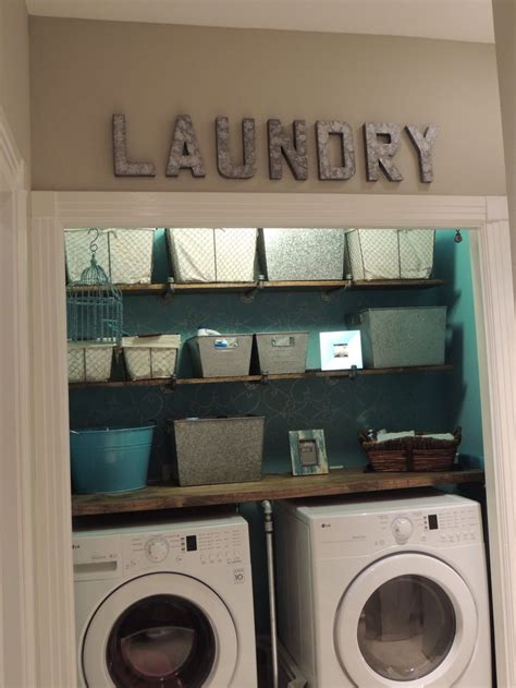 Laundry Closet Renovation From Ugly Peach Walls, Wire