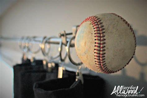 baseball drapes allwood s baseball curtain rod finials