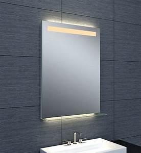 miroir retroeclaire dubai l 60 cm envie de salle de bain With miroir led intégré