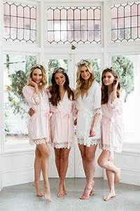 9 elegant blush robes for you and your bridesmaids With bridesmaid robes