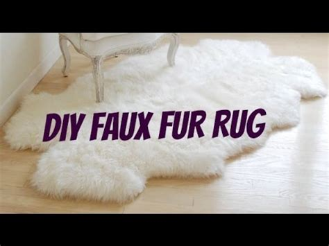 diy faux fur rug diy faux fur rug 50