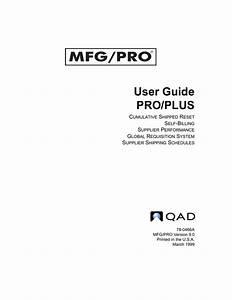 Mfg  Pro 9 0 User Guide  Pro  Plus