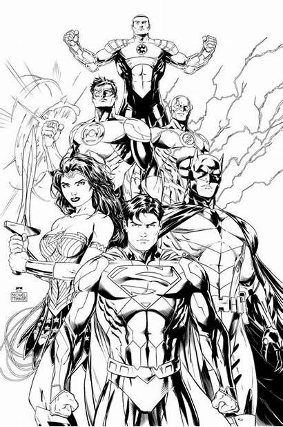 Coloring Justice League Pages