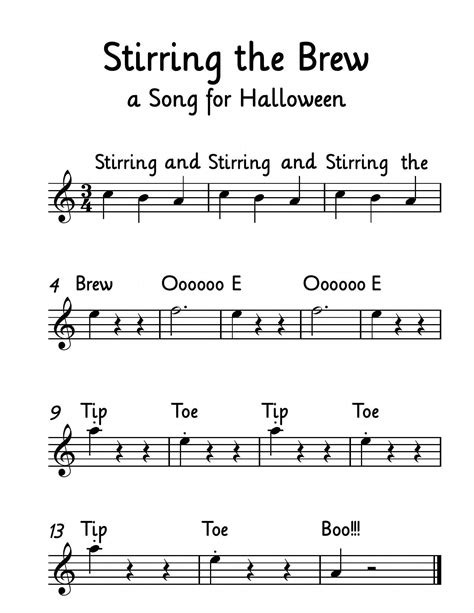 If you ever have a desire to discuss music that. Free Music: Stirring the Brew is a popular Halloween song. My beginning violin students LOVE ...