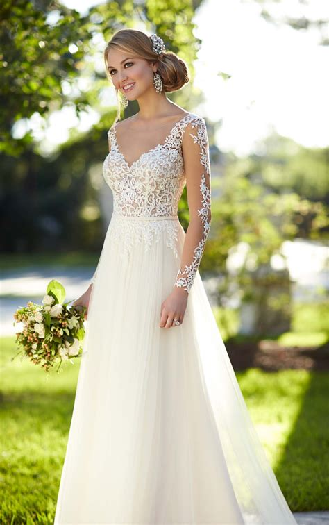 Wedding Dresses Illusion Lace Wedding Dress Stella York