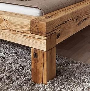 Bett Kaufen 160x200 : massivholz bett 160x200 balkenbett rustikal doppelbett wildeiche ge lt ~ Frokenaadalensverden.com Haus und Dekorationen