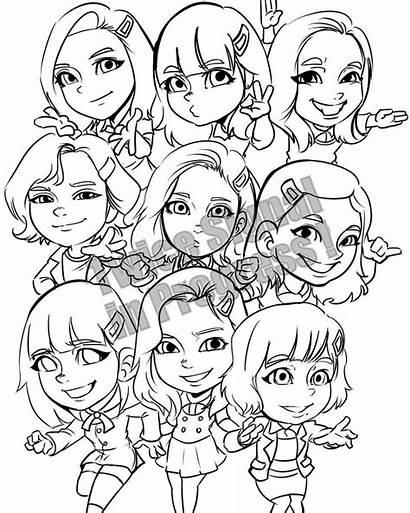 Twice Chibi Momo Signal Sana Fanart Drawing
