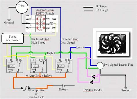 Electrical Fan Diagram by More Electric Fan Wiring Help Incl Diagram Ih8mud Forum