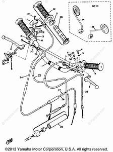 Yamaha Motorcycle 1969 Oem Parts Diagram For Handle