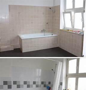 Badezimmer Fliesen Streichen : badezimmer fliesen streichen vorher nachher badezimmer blog ~ Michelbontemps.com Haus und Dekorationen
